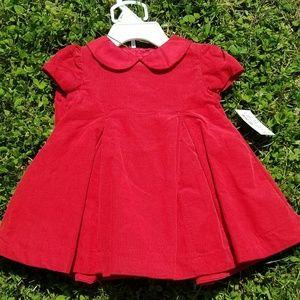 Ralph Lauren Red Corduroy Holiday Dress